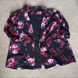 Lane Bryant floral blazer 26/28